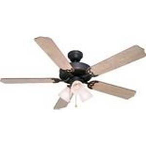 Palladium - 52Inch 5 Blade Ceiling Fan with Light Kit and Pull Chain Control