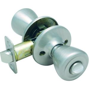 "Pelham Collection 6.88"" Knob Privacy Door Handle, Satin Nickel"