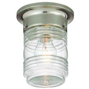 Jelly Jar - One Light Outdoor Flush Mount