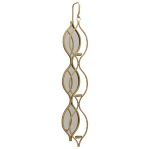 """Tolly - 40.35"""" Mirrored Wall Candle Holder"""