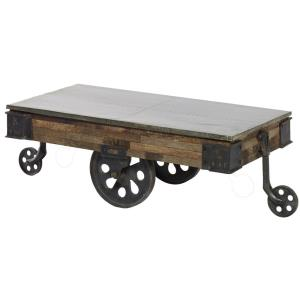 "Mackinal - 52"" Coffee Table with Wheels"