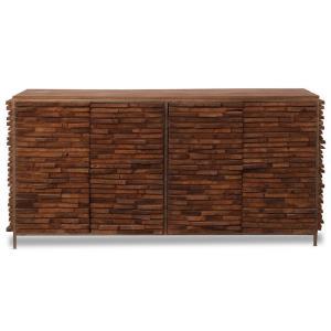 Bradford - 80 Inch 4 Door Stacked Wood Cabinet