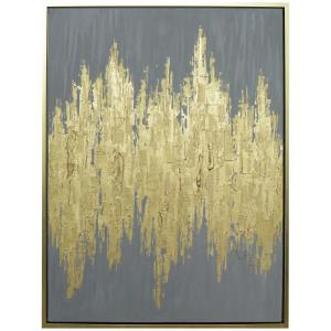 Queens - 41.75 Inch Hand Painted Abstract Framed Canvas Art