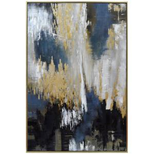 Apollo - 43.75 Inch Small Hand Painted Abstract Framed Canvas Art