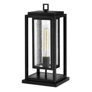Republic - 1 Light Medium Outdoor Pier Mount in Transitional Style - 7 Inches Wide by 16.5 Inches High