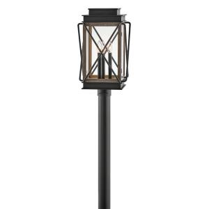 Montecito - 3 Light Medium Outdoor Post Top or Pier Mount Lantern in Transitional Style - 11.75 Inches Wide by 20.5 Inches High