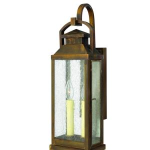 Revere - 2 Light Medium Outdoor Wall Lantern in Traditional Style - 7 Inches Wide by 21.75 Inches High