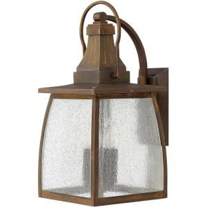 Montauk 19.5 Inch Outdoor Wall Lantern  Solid Brass Approved for Wet Locations