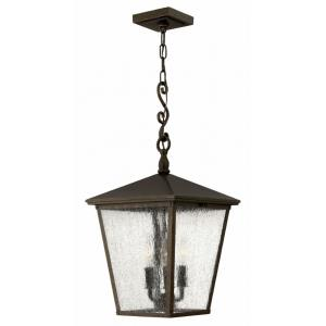 Trellis - 3 Light Large Outdoor Hanging Lantern in Traditional Style - 11 Inches Wide by 23.25 Inches High