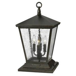 Trellis - 4 Light Large Outdoor Pier Mount Lantern