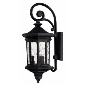Raley - Three Light Outdoor Wall Mount