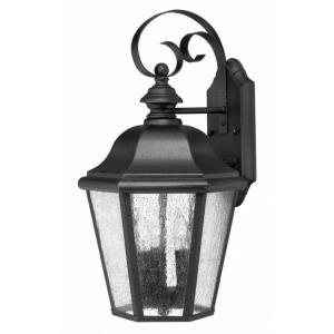 Edgewater - 3 Light Medium Outdoor Wall Lantern in Traditional Style - 10 Inches Wide by 18 Inches High