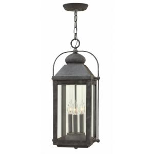 Anchorage - 3 Light Large Outdoor Hanging Lantern in Traditional Style - 11 Inches Wide by 23.75 Inches High