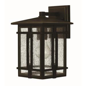 Tucker - One Light Outdoor Wall Mount in Transitional, Craftsman Style - 7 Inches Wide by 11.5 Inches High