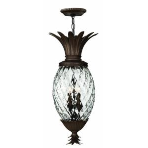 Plantation - 4 Light Medium Outdoor Hanging Lantern in Traditional, Glam Style - 12.5 Inches Wide by 28.5 Inches High