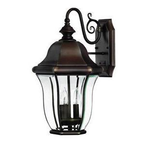 Monticello Brass Outdoor Lantern Fixture - Energy Savings/Dark Sky