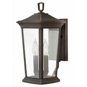 Bromley - 15.25 Inch Two Light Outdoor Small Wall Mount