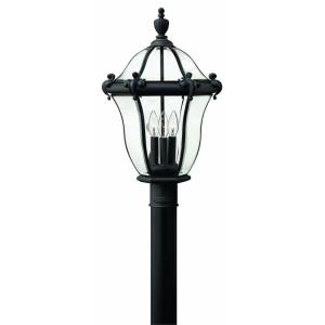 San Clemente - 3 Light Large Outdoor Post Top or Pier Mount Lantern