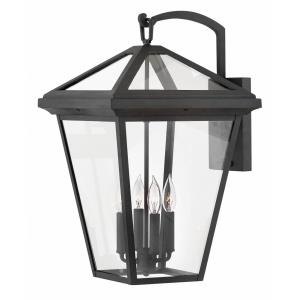 Alford Place - 4 Light Extra Large Outdoor Wall Lantern in Traditional Style - 14 Inches Wide by 24 Inches High