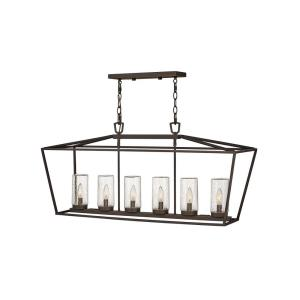 Alford Place - Six Light Outdoor Linear Hanging Lantern
