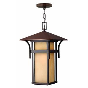 Harbor - 1 Light Large Outdoor Hanging Lantern in Transitional, Craftsman, Coastal Style - 11 Inches Wide by 19 Inches High