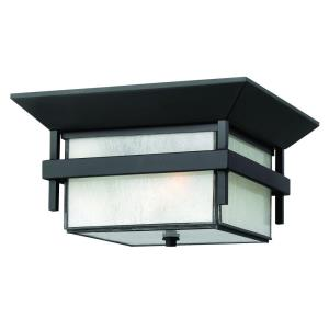 Harbor - 2 Light Medium Outdoor Flush Mount in Transitional, Craftsman, Coastal Style - 12.25 Inches Wide by 7 Inches High