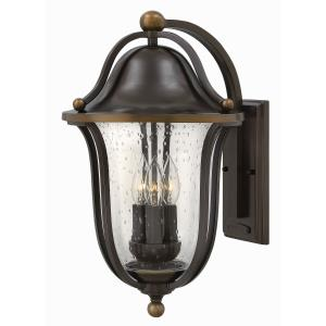 Bolla 18.75 Inch Outdoor Wall Lantern  Solid Brass Approved for Wet Locations