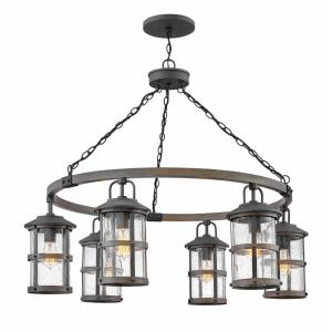 Lakehouse - Six Light Outdoor Medium Hanging Lantern