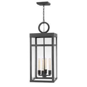 Porter - 4 Light Large Outdoor Hanging Lantern in Transitional Style - 12 Inches Wide by 31.25 Inches High