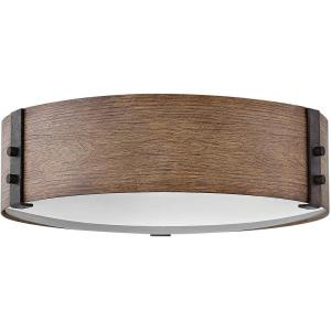 Sawyer - 3 Light Medium Outdoor Flush Mount in Rustic Style - 15 Inches Wide by 4.75 Inches High