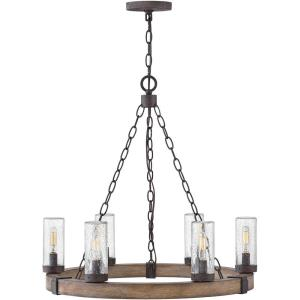 "Sawyer - 24"" 30W 6 LED Outdoor Medium Chandelier"