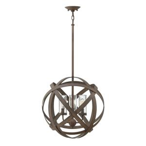 Carson - 3 Light Medium Outdoor Low Voltage Orb Hanging Lantern in Transitional, Industrial Style - 18.5 Inches Wide by 19 Inches High