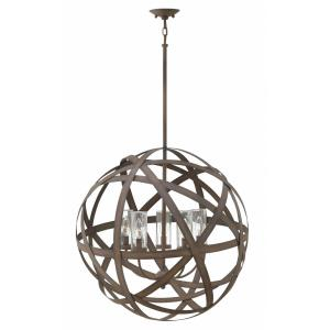 Carson - 5 Light Large Outdoor Orb Hanging Lantern in Transitional, Industrial Style - 26.5 Inches Wide by 26.25 Inches High