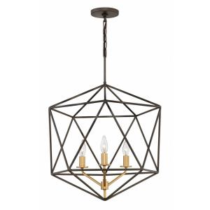 Astrid - 3 Light Medium Open Frame Chandelier in Transitional Style - 20 Inches Wide by 26.75 Inches High
