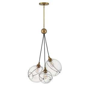 Skye - 3 Light Pendant in Modern, Bohemian Style - 18.25 Inches Wide by 36.5 Inches High