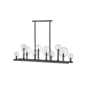 Alchemy - Ten Light Linear Chandelier in Transitional, Industrial Style - 48.25 Inches Wide by 17 Inches High