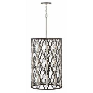 Portico - Nine Light Extra-Large Open Frame Drum Pendant in Transitional Style - 19 Inches Wide by 44.75 Inches High