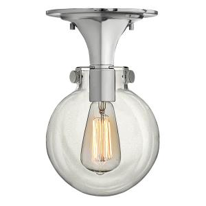 Congress - 1 Light Globe Flush Mount in Traditional Style - 7 Inches Wide by 11.25 Inches High
