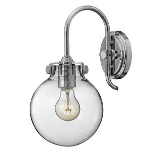 Congress - 1 Light Globe Wall Sconce in Traditional Style - 7 Inches Wide by 13.5 Inches High