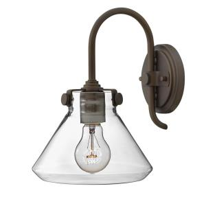 Congress - 1 Light Small Retro Wall Sconce in Traditional Style - 8 Inches Wide by 11.25 Inches High