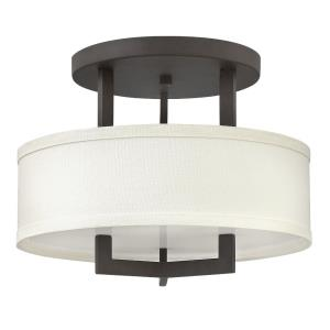 Hampton - 3 Light Small Semi-Flush Mount