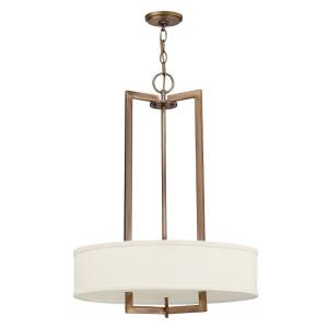 Hampton - 3 Light Small Drum Chandelier in Transitional Style - 20 Inches Wide by 26.5 Inches High