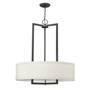 Hampton - 3 Light Medium Drum Chandelier in Transitional Style - 26 Inches Wide by 30.25 Inches High