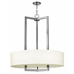 Hampton - 3 Light Large Drum Foyer in Transitional Style - 30 Inches Wide by 33 Inches High