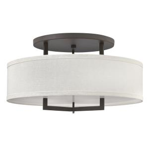 Hampton - 3 Light Large Semi-Flush Mount in Transitional Style - 26 Inches Wide by 14.5 Inches High