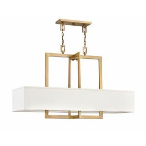 Hampton - 4 Light Linear Chandelier in Transitional Style - 42 Inches Wide by 26 Inches High