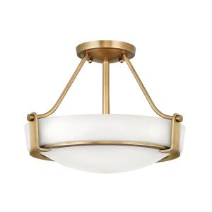 Hathaway - Three Light Medium Semi-Flush Mount