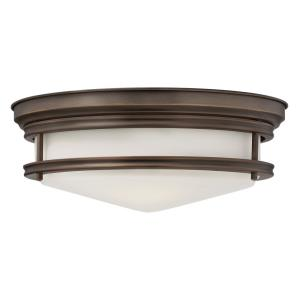 Hadley - 3 Light Ceiling Flush Mount - Steel
