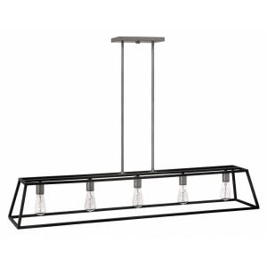 Fulton - 5 Light Open Frame Linear Chandelier
