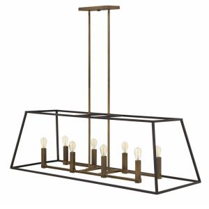 Fulton - 8 Light Open Frame Linear Foyer in Transitional, Industrial Style - 48 Inches Wide by 16.25 Inches High